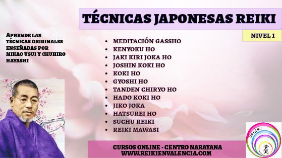 CURSO TECNICAS JAPONESAS REIKI 1